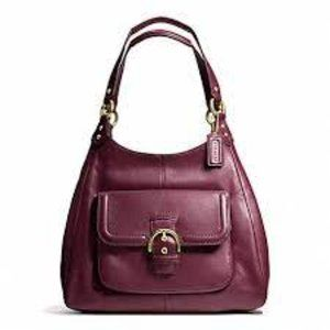 Coach   Campbell Leather Hobo Bag Bordeaux Red